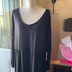 Woman's Plus Size Longsleeve Black Dress 3X